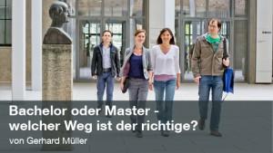 Bachelor oder Master - welcher Weg ist der richtige? (Foto: Andreas Heddergott)