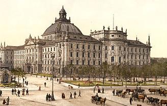 Der Münchner Justizpalast zu Zeiten von Thiersch