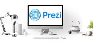 Prezi ist ein webbasiertes Präsentationstool, bei dem die Inhalte auf einer großen Leinwand angelegt werden, in die man hinein- und hinauszoomen kann. (Quellen: Pixabay, Prezi)