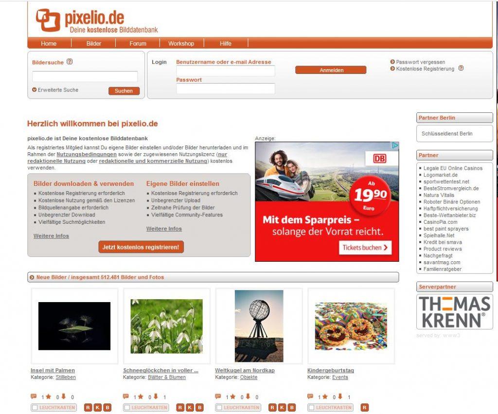 Pixelio_Screenshot