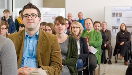 Beim SSZ InfoForum können Sie sich über neue Entwicklungen informieren und sich mit Kolleginnen und Kollegen vernetzen (Foto: Heddergott/TUM)