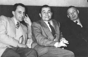 Walter Hieber (rechts) und sein Schüler Ernst Otto Fischer (links)