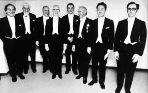 Gruppenbild der Nobelpreis-Verleihung von 1973