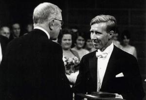 Nobelpreisträger der Physiologie, Konrad Emil Bloch (rechts)