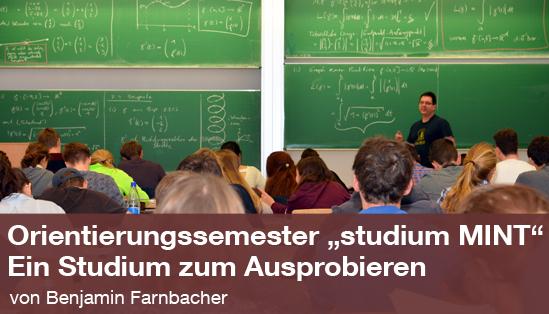 """Das Orientierungssemester """"studium MINT """" – ein Studium zum Ausprobieren"""