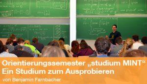 """Das Orientierungssemester """"studium MINT """" – ein Studium zum Ausprobieren (Foto: Battenberg)"""