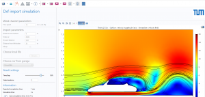 Abbildung 2: Windkanal-App (Quelle: Moheit)