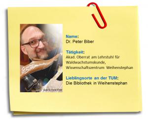 Steckbrief: Nachgefragt bei Peter Biber