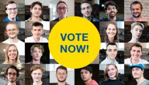 Bild mit Porträts der 13 Finalistinnen und Finalisten